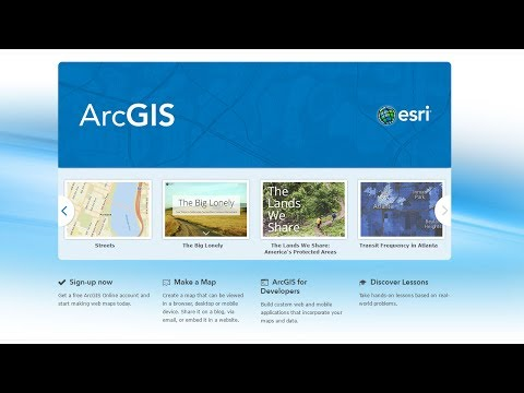 Get Started with ArcGIS Online - YouTube