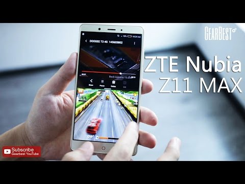 ZTE Nubia Z11 MAX 4G Phablet Hands-on Video - Gearbest.com