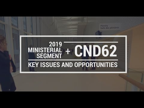 CND 62 and 2019 Ministerial Segment: Key issues and opportunities