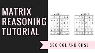 Matrix | Reasoning | Tutorial [Hindi] | SSC CGL | SSC CHSL | RAILWAY