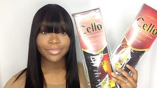 Quick-weave With A Front Bang   Sensationnel Cello Remi Yaki Hair