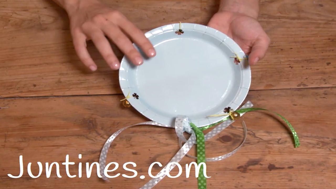 Pandereta casera, una manualidad para niños