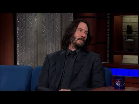 Keanu Reeves surprises Stephen Colbert with genuine answer to a question asked in jest...