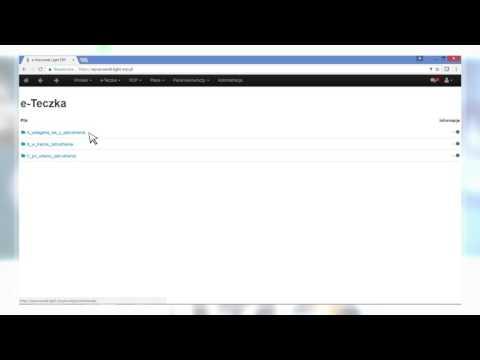 Aplikacja e-Pracownik: Przechowywanie dokumentów<