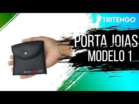 Porta Jóia Modelo 1 em Neoprene Personalizado para Brindes Corporativos