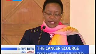 Health CS Sicily Kariuki launch HPV vaccine to reduce cases of cervical cancer