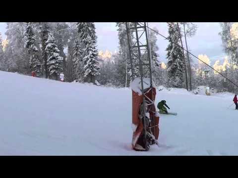 Видео: Видео горнолыжного курорта Золотая Долина в Ленинградская область