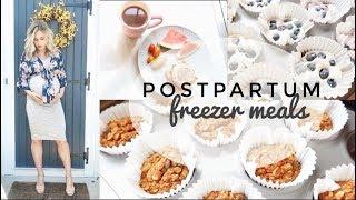 Healthy Postpartum Freezer Meals & Snacks
