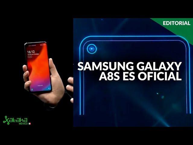 ADIÓS al NOTCH. El Samsung Galaxy A8s ya es OFICIAL