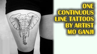 One Continuous Line Tattoos By Artist Mo Ganji | TATTOO WORLD