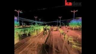 preview picture of video 'KADEX - Skanowanie laserowe 3D - Łódź Fabryczna, chmura punktów'