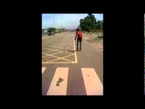 how to do a double push on inline skates while sprinting.