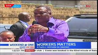 COTU Secretary General, Francis Atwoli meets with aviation workers