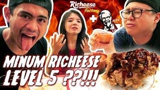 KFC Richeese Level 5 + Pedas DIMINUM Sampe Hampir Pingsan !!! ft Tanboy Kun