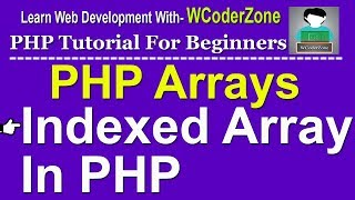 Indexed array in php - PHP Array Tutorial English