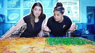Eating The Worlds Largest Pizza CHALLENGE! feat. iiSuperWomanii