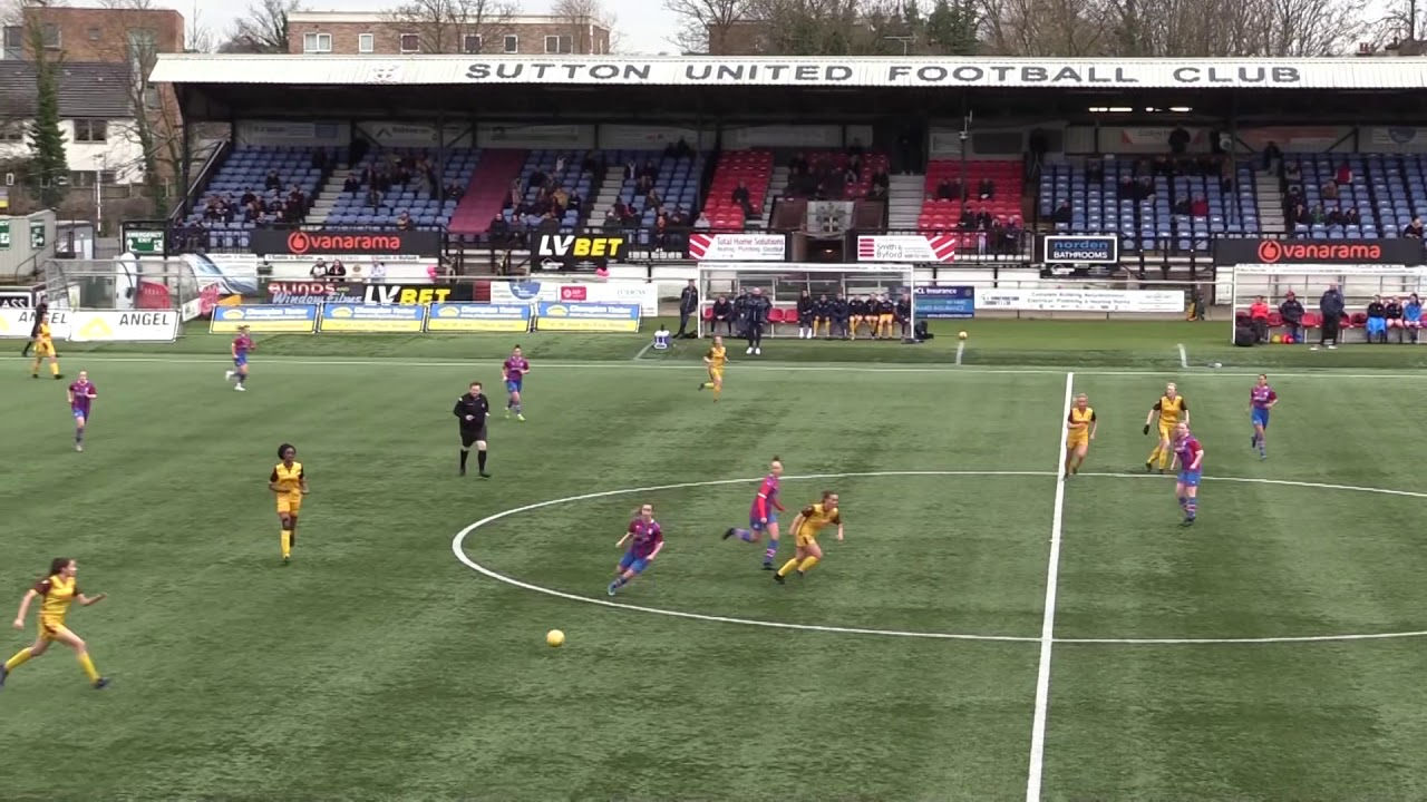 Highlights Sutton United Women v Crystal Palace Development B 15th March 2020