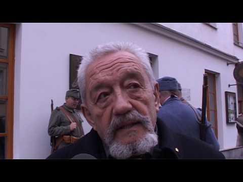 Odhalení pamětní desky maršálu Radeckému v Sedlčanech