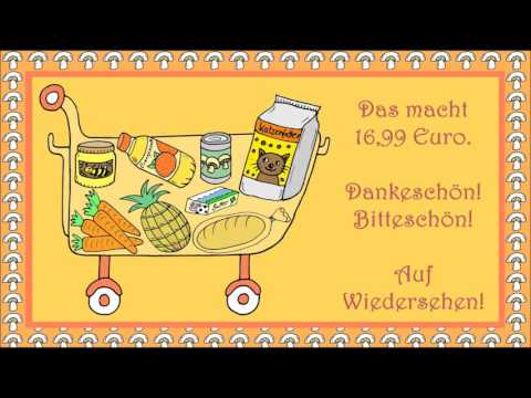 Im Supermarkt (Deutsch als Fremdsprache für Kinder - learn German - apprendre l'allemand)