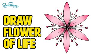 HOW TO DRAW THE FLOWER OF LIFE - Simple Step By Step Instructions