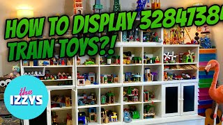 How do we display A MILLION Toy Trains?