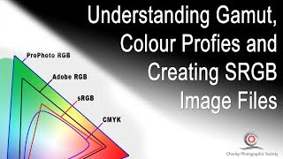 Understanding Colour Profiles and Saving images in SRGB