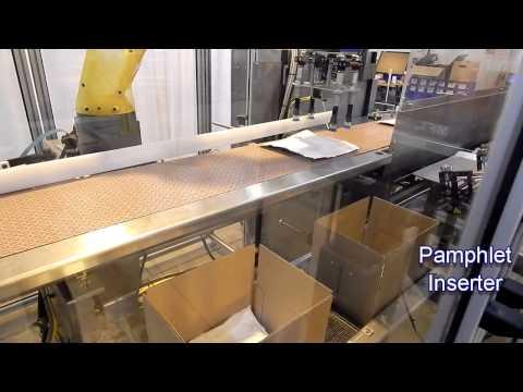 Empacadora Ergopack con Robot e Insertador de Folletos