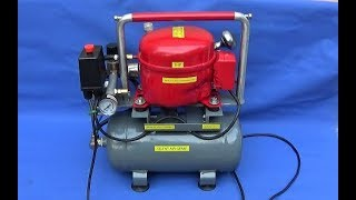 Make A Silent Air Compressor & Making A Custom Chrome Air Filter