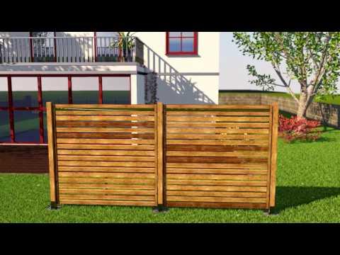 Sichtschutz bauen mit Holzelementen...so geht das.
