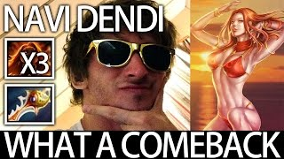 Navi Dendi Pro Lina 4vs5 Comeback Divine Rapier Dota 2 Gameplay