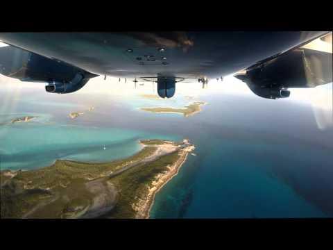 Into The Blue Chain| Nassau ✈ Staniel Cay Exuma ✈ Piper Aztec GoPro HD