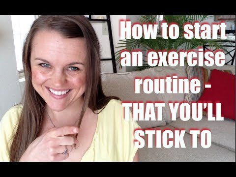 How to start an exercise routine to lose weight