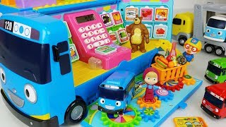 Download Video Tayo Bus mart and food toys Baby doll car play - 토이몽 MP3 3GP MP4