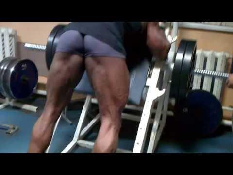 Reverse hack squat + Extension