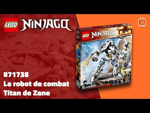 Vidéo LEGO Ninjago 71738 : Le robot de combat Titan de Zane