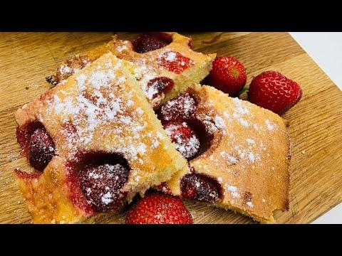 Hrnkový koláč s jahodami | Konvektomat Miele DGC 7845