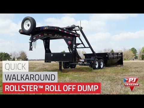 2021 PJ Trailers Roll-Off Dump (DR) in Elk Grove, California - Video 1