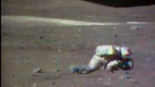 Apollo 16 EVAs 2 (falling down on the Moon)