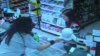 Clerk Grabs Baby from Woman Before She Collapses