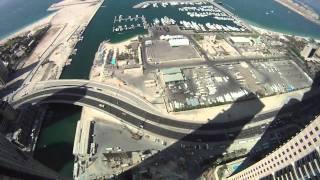 Urban Skydive Dubai. Flying around skyscrapers.