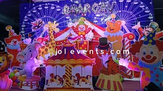 Carnival Birthday Theme Decoration For Kids Birthday Party, Circus Theme