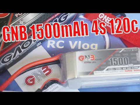 Gaoneng GNB 14.8V 1500mAh 4S 120C. Full review and test charge/discharge