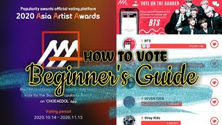 TUTORIAL   HOW TO VOTE BTS FOR ASIA ARTIST AWARDS 2020 - POPULARITY AWARD   SIGN UP BEGINNERS GUIDE