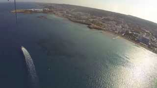 preview picture of video 'Fig Tree Bay, Protaras, Cyprus  -  Parasailing with XS Watersports'