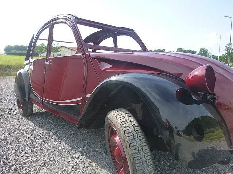 Restoration of a 1982 Citroen 2cv Charleston: the best paint job I have ever seen on these cars