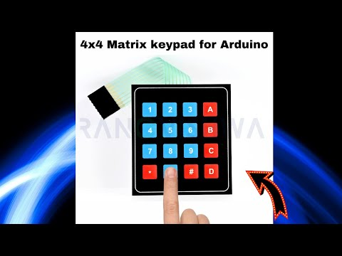 4x4 Matrix Membrane Switch Keypad
