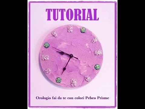 Come creare un orologio da parete e decorarlo con pebeo prisme e resine gioiello