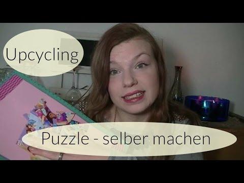 Puzzle selber machen I Upcycling I Basteln mit Kindern I Deutsch - Finola 2016