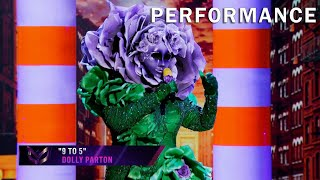 "Flower sings ""9 to 5"" by Dolly Parton 