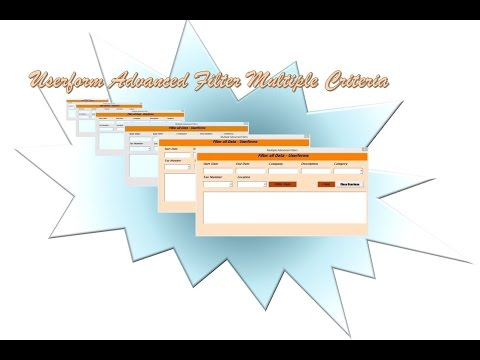 Excel Userform Advanced Filter with Multiple Criteria